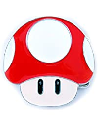 Nintendo, Super Mario Power Up Mushroom Buckle Flat inkl. Gürtel