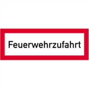 Schild Feuerwehrzufahrt gemäß DIN 4066 Alu 10,5x29,7cm (Brandschutzschild, Parkverbot, Einfahrt freihalten) praxisbewährt, wetterfest