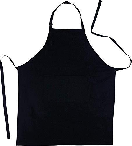 Shentian schwarz Baumwolle Küchenschürze,Grillschürze-Küchentextilien(70X85CM)