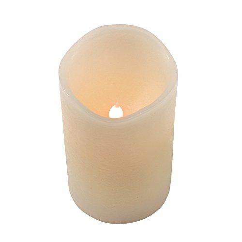 LED Vela de cera ánimo Luz olores de vainilla Deko Luz ø7,5X 12,5cm Juego de 2