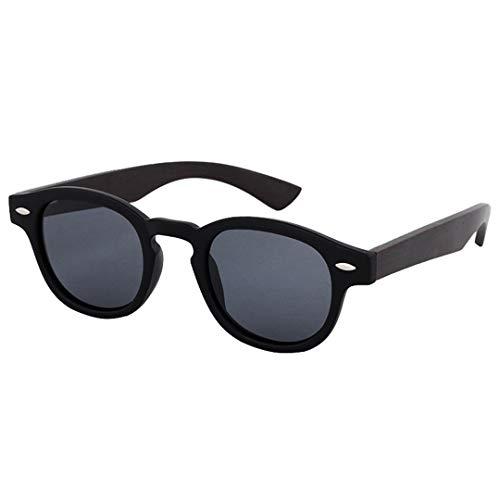 DAIYSNAFDN Holz Sonnenbrille Frauen Runde Bambus Sonnenbrille Für Männer Polarisierte Spiegel Beschichtung Linsen Eyewear C10