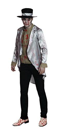Fancy Ole - Herren Männer Zombie Bräutigam, Kostüm, Halloween, Mehrfarbig, Größe L
