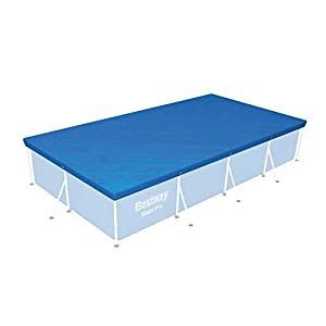 Bestway 58107 Flowclear Swimming Cover for Rectangular Steel Pro Pools, 13 ft 1 Inch