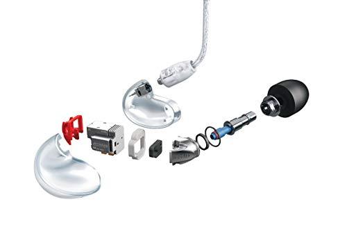Shure SE846-CL Professionellen Ohrhörer mit Sound-Isolating-Design, vier High-Definition-MicroDrivern und transparentem Kabel mit 3,5-mm-Klinken für definierte Höhen und echte Subwoofer-Leistung - 5