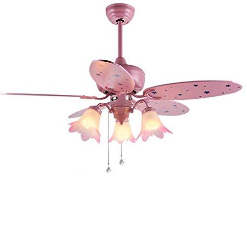 LAMP®-Ventilador de techo Niño de la niña de dibujos animados de color rosa claro Cute 42-inch ventiladores...