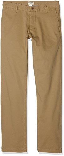 Dockers Herren Washed Khaki Slim Tapered - Stretch Twill Hose, Braun (New British 0001), W30/L32 - Braun Twill-hose