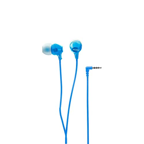 (Renewed) Sony MDR-EX14AP In-Ear Headset with Mic (Blue) Image 3