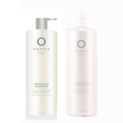 Onesta Hydrating Shampoo & Conditioner Liter DUO 31 ounces each by Onesta