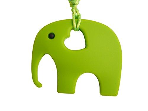 Ciuccio massaggiagengive a forma di elefante, in silicone e senza BPA (bisfenolo A), in 12 colori