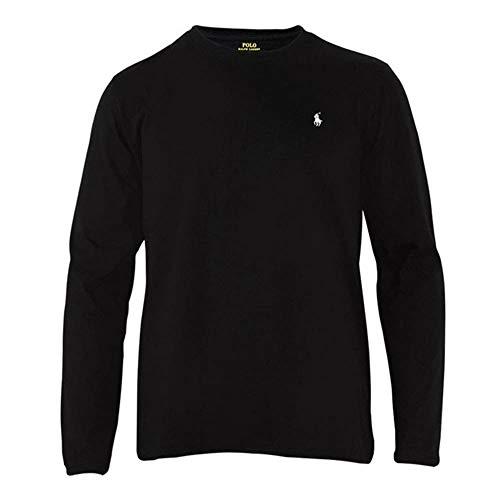 Polo Ralph Lauren Longsleeve Crew Neck Shirt Langarm Shirt Sleep Top S Black (001)