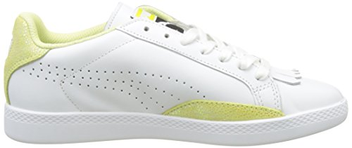 Puma Match Lo Reset Wn's, Sneakers Basses Femme Blanc (Puma White-soft Fluo Yellow 03)