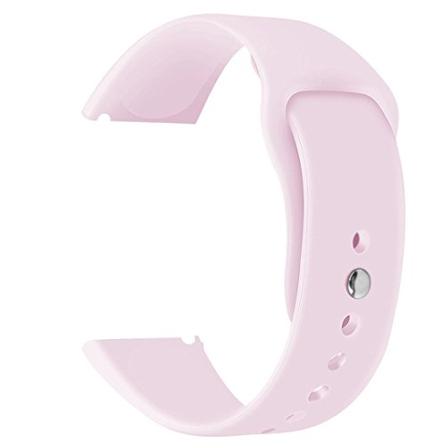 Igemy- -- tessuto cinturino da polso morbido silicone sostituzione sport classici fascia da polso per Fitbit versa Smartwatch, Hot pink