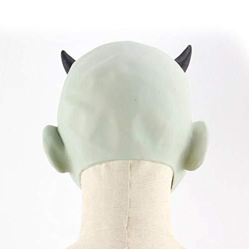SuperCimi Novelty Halloween Costume Party Creepy Scary Ugly Latex Demon Head Mask baby Head