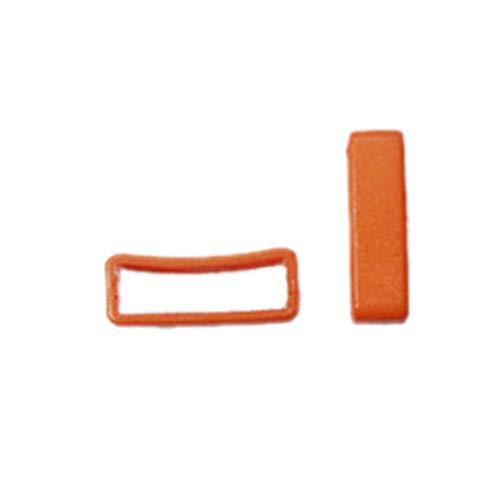 FLC093 Hundegeschirr, aus Kunststoff, 17 mm, mit Gürtelschlaufe, 100 Stück Orange
