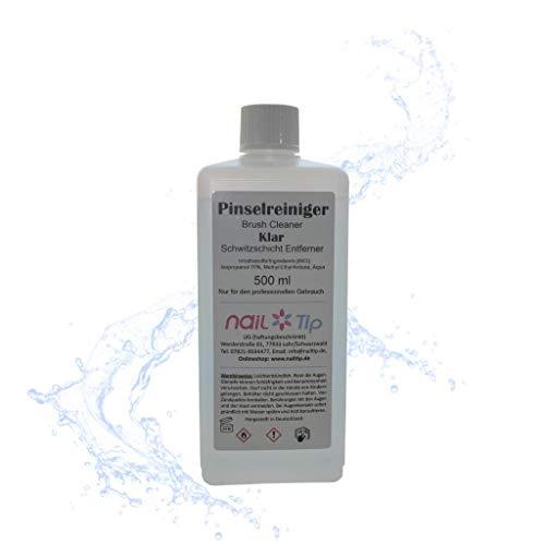 Pinselreiniger | Brush Cleaner | klar | 500ml Reiniger um Pinsel zu säubern | (70% Isopropanol | Alkohol) - Pinsel-reiniger Acryl