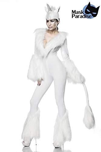 Sexy White Unicorn Kostüm Letztes Einhorn Einhornkostüm Overall Märchen Karneval Fasching Damen Legende Sage XS (Fantasy Einhorn Kostüm)