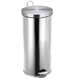 Chef Vida Kitchen Pedal Bin, Metal, Stainless Steel, 30 Litre