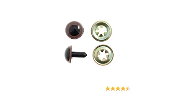Toy 12mm 6 Per Pack Craft Safety Googly Eyes