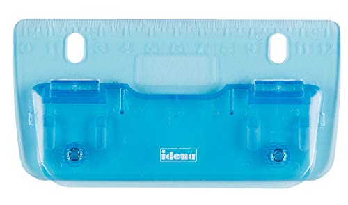 Idena 22100 - Taschenlocher, Lochung bis zu 4 Blatt, 1 Stück, blau transparent