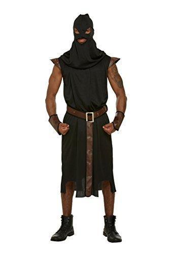 Herren Erwachsene Henker mittelalterlich Spielleiter Kostüm Halloween Outfit NEU