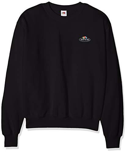 Fruit of the Loom 12202 Herren Sweatshirt - Basic Pullover mit Rundhalsausschnitt & kleinem Logo-Aufdruck