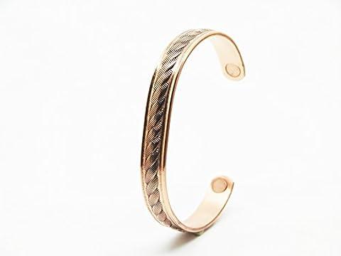 Armband Kupfer magnetisch mit Magneten. Seil.–SABONA Frankreich. Größe Durchschnitt (152mm) für Handgelenk 165mm,