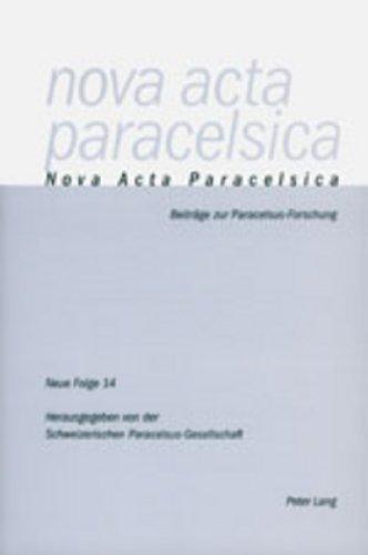 Nova Acta Paracelsica: Neue Folge 14/2000 (Nova Acta Paracelsica / Beiträge zur Paracelsus-Forschung, Band 14)