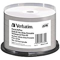 Verbatim DVD-R 16x Wide Printable Waterproof No ID Brand 4.7GB DVD-R 50pieza(s) - DVD+RW vírgenes (4,7 GB, DVD-R, 50 pieza(s), 16x, Eje)