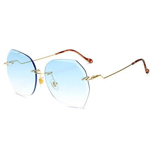GJYANJING Sonnenbrille Sonnenbrille Frauen Übergroßen LuxusDiamant Schneiden ObjektivSonnenbrilleFamale Rosa Eyewear Uv400