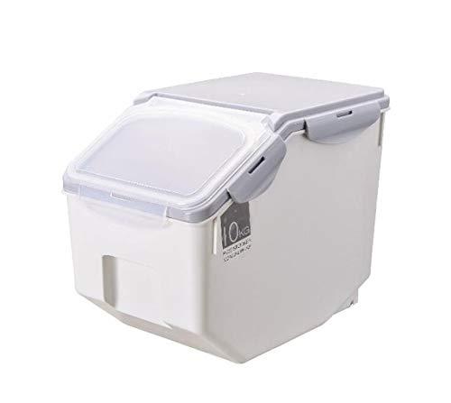 PFSYR Home Küche Storager Double Sealed Reis Eimer Küche Korntank große Kapazitäts-Reis Barrel Geeignet for Arten der Küche Storage (Color : Grey, Size : 10KG)