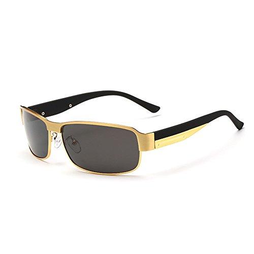 Sonnenbrillen Herren-Sonnenbrillen Einfache Klassische polarisierte Sonnenbrillen umrandete treibende Sonnenbrillen Metallrahmen UV-Schutz Sport Sonnenbrillen für Baseball (Farbe : Gold)