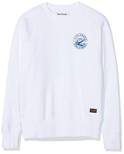 Kings of Indigo Herren Parnell Sweatshirt, Weiß (White 7100), Small (Herstellergröße: S)