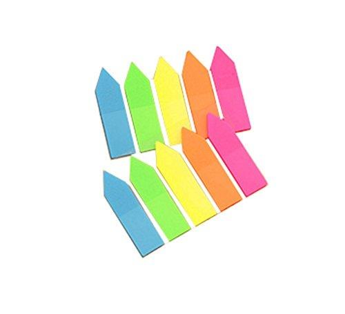 Fablcrew Divisori segnapagina a forma di freccia, scrivibili, singoli, multicolore, confezione da 100, multicolore, 4.5*1.2cm