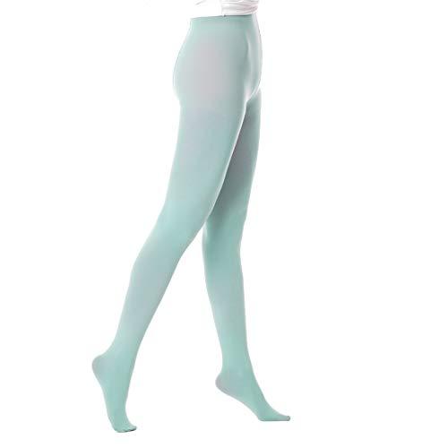 OLIVE OLIVIA Strumpfhose Damen 50 DEN Blickdichte Stützstrumpfhose Mit Kontrolloberteil 1 Stück für Workout Cosplay und Täglichen Gebrauch Minzgrün