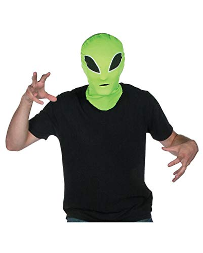 Horror-Shop Grüne Alien Halloween Maske