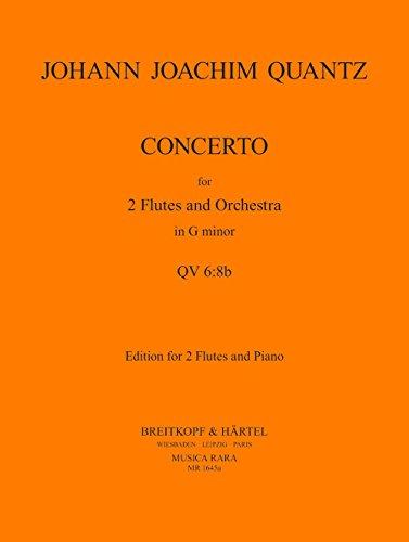 Konzert für 2 Flöten und Orchester g-moll - Ausgabe für 2 Flöten und Klavier (MR 1645a)