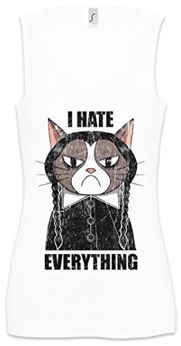 I Hate Everything Cat Damen Frauen Tank Top Shirt Größen S - XL