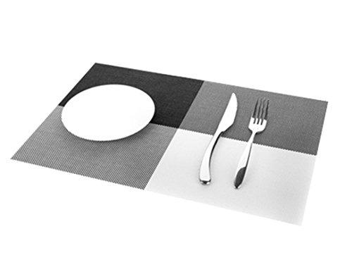 (aikesi 1Stück Platzdeckchen Geschirr Tuch quadratisch Tischdecke rechteckig Western wasserdicht und Wärmedämmung einfachen Schwarz)