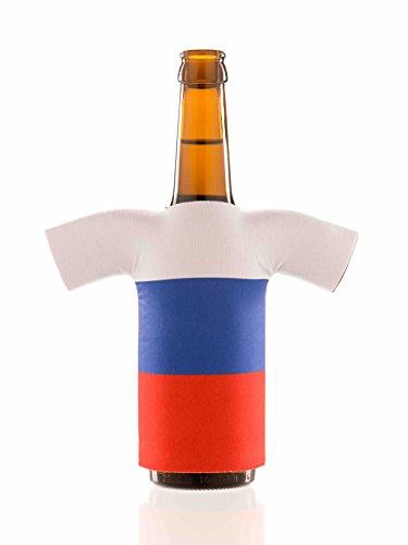 Flaschentrikot Russland - Flaschenkühler, Bierkühler, Getränkekühler aus Neopren - Fanartikel und Partyspaß zum Grillen, Public Viewing und Feiern