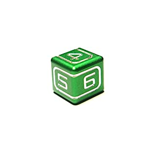 Third Edition AKO Dice - 'Another Kind Of Dice' Custom Metal Dice (1 Die) (green)