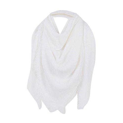 HLHN XXL Damen Schal, Übergroß Weiche Schals Poncho Langes Verpackungs Schal (Weiß)