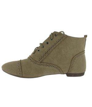 Chaussure Bas Prix - Bottines femme kaki - 534-14 Kaki