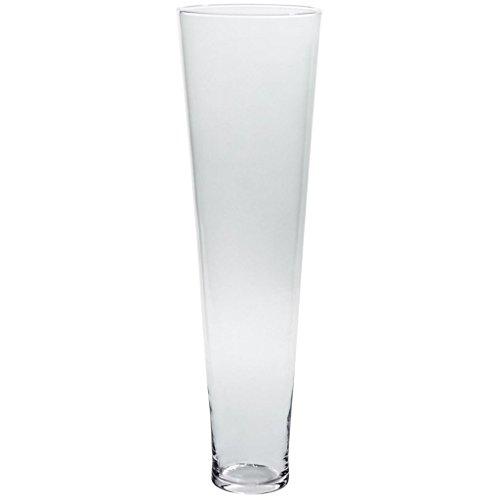 Vase XXL Deko Blumenvase Famous Ramses D 23,5 cm H 80 cm Hochwertiges Glas Moderner Zeitloser Style Tischvase