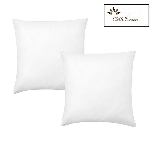 16X16 Cushion/Cushion Filler/Cushion Pillow For Sofa-Set of 2-White-By Cloth Fusion