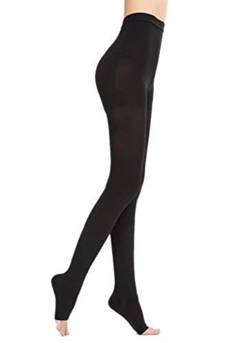 Bigood Collants Femme Bas Minceur Chaussette Soin du Corps Elastique Noir Fermé Noir