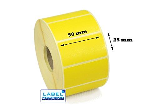 label Metrics 10.00050mm x 25mm GELB Thermodirekt Etiketten