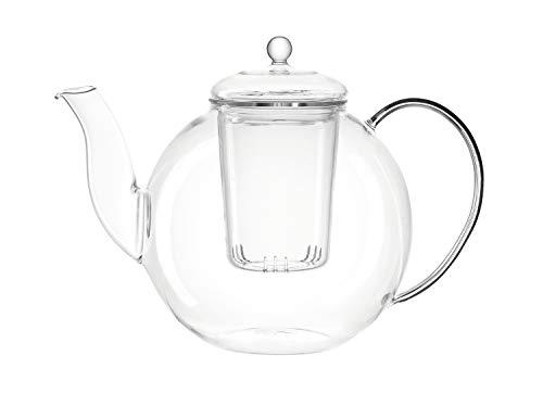 LEONARDO 034920 Teekanne Armonia, 1,2 l, hitzebeständiges Glas, H 17,6 cm