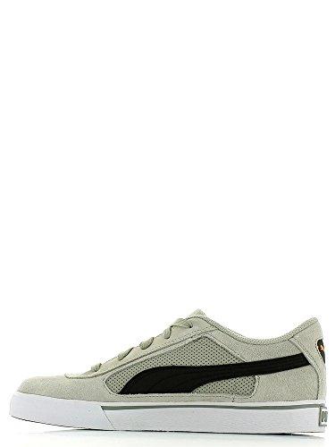 Puma Puma S Evolution Unisex-Kinder Sneakers Limestone gray-black-br