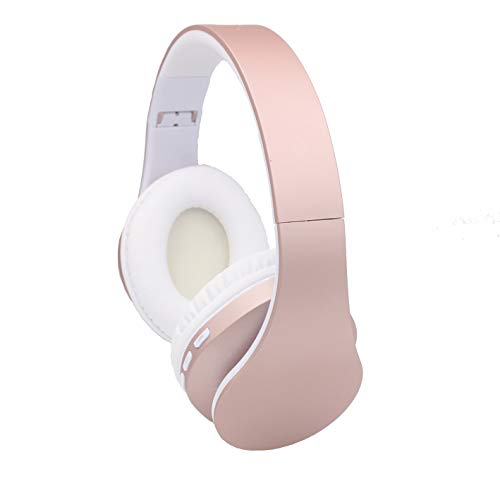 LoongGate Bluetooth-Kopfhörer rund ums Ohr, Faltbare Stereo-Funkkopfhörer mit integriertem Mikrofon, UKW-Radio, Kartenleser für Tablets PC/Handys/TV