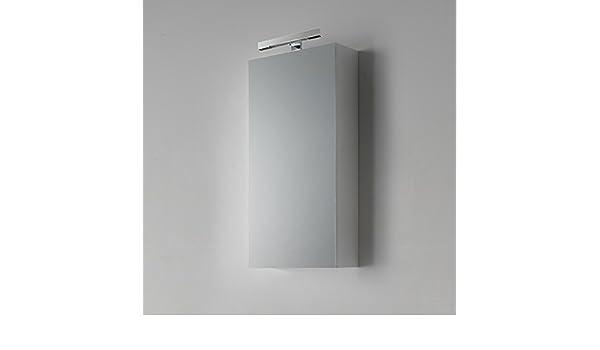 Specchio bagno contenitore da cm con lampada modello agata
